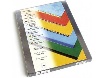 Vázací kryt Eurosupplies přední průhledný Prestige A4, 100ks, čirý, 200mic