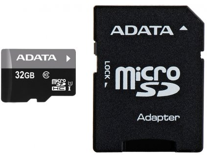 Paměťová karta Adata MicroSDHC Premier 32GB Class10 UHS-I + adaptér