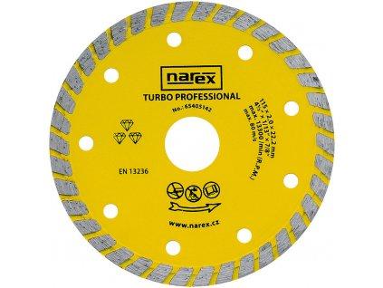 Diamantový kotouč Narex TURBO PROFESSIONAL 115 mm