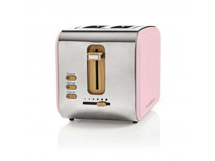 Topinkovač Nedis KABT510EPK Soft-Touch, růžová