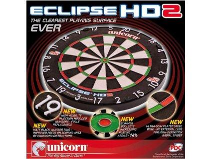 Sisalový terč Unicorn Eclipse HD2, PDC, TV edition, turnajová kvalita
