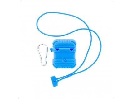 Pouzdro silikonové Handodo vč. karabiny pro Apple Airpods Blue (EU Blister)