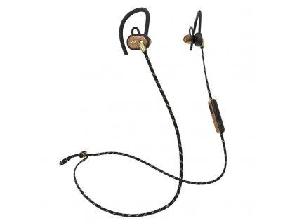 Sluchátka Marley Uprise Brass, sportovní do uší, Bluetooth