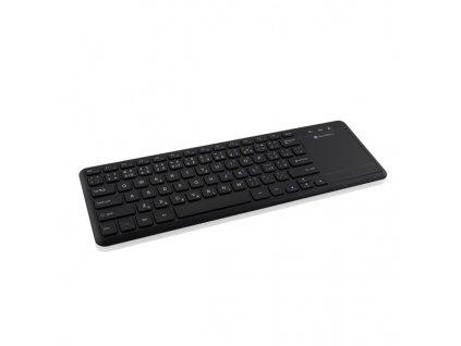 Klávesnice GoGEN WKB 460 CZB, Wireless, Touchpad, Smart TV - černá