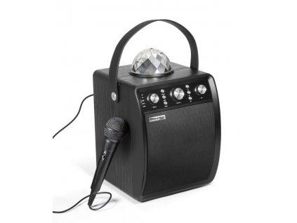 Repro Technaxx MusicMan Disco reproduktor + mikrofon, BT, MicroSD, USB, AUX-IN, FM, 4000mAh,černý (BT-X53)