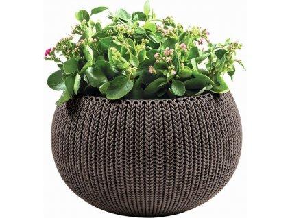 Květináč Keter COZY M závěsný Harvest Brown