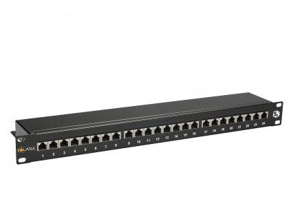Patch panel Solarix SX24-5E-STP-BK 24 x RJ45 CAT5E STP černý 1U