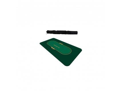 Pokerová podložka Texas Green, pogumovaná, 180 × 90, zelená