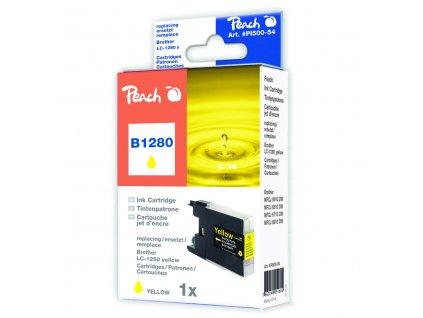 Inkoust Peach LC-1280Y kompatibilní žlutý PI500-54 pro Brother MFC-J6510 (2010str./5%, 19ml)