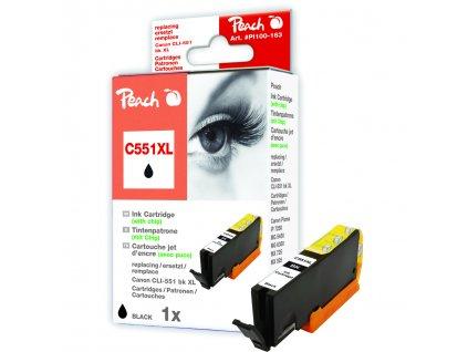 Inkoust Peach CLI-551Bk XL kompatibilní foto černý PI100-163 pro Canon Pixma MG5450 (13ml)