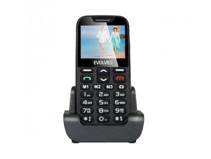 Mobilní telefon Evolveo EasyPhone XD se stojánkem, černá