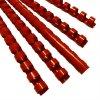 Vázací hřbet Eurosupplies / OEM plastový A4 průměr 8mm červený 100ks