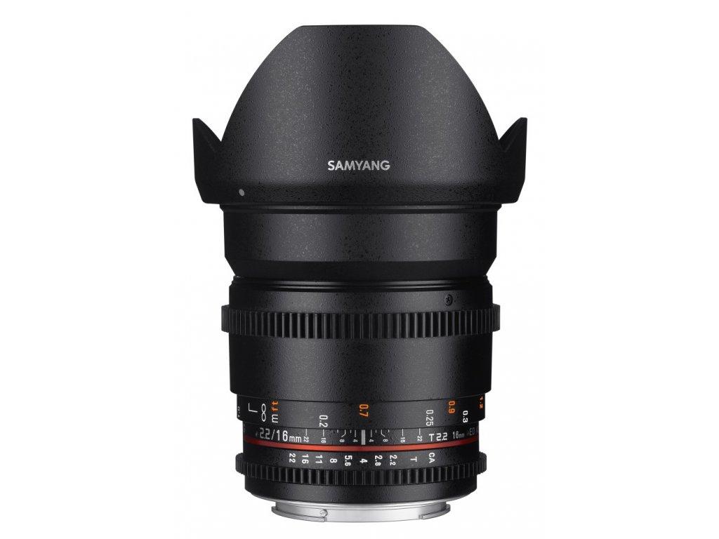 Objektív Samyang 16mm T2.2 VDSLR II Olympus 4/3