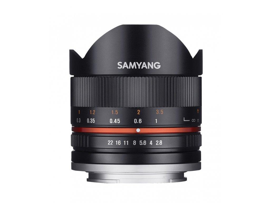 Objektív Samyang 8mm F2.8 II Fuji X (Black)