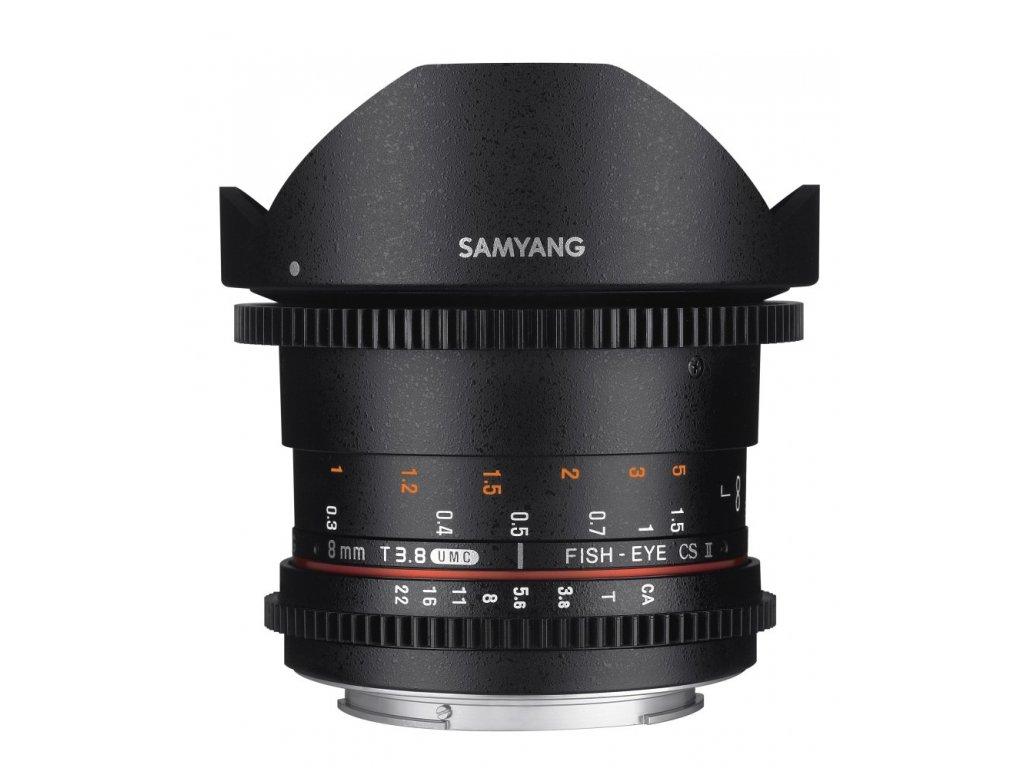 Objektív Samyang 8mm T3.8 CSII VDSLR II Canon