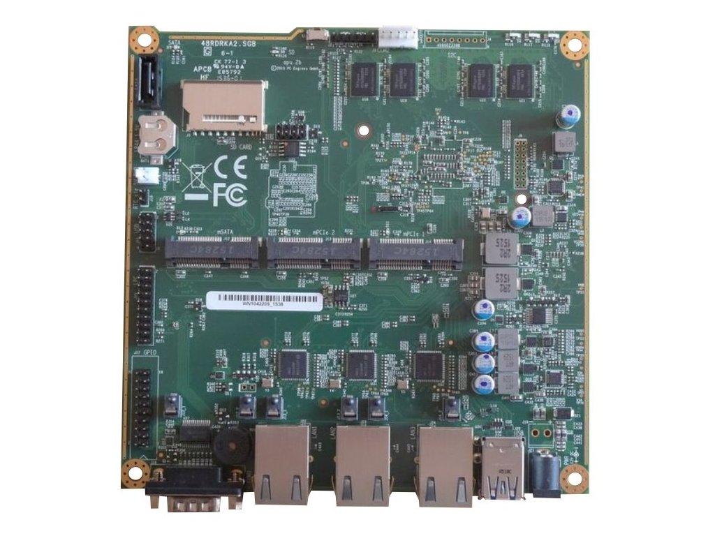 Doska PC Engines APU.2E2 system board 2GB / 3 GigE / 2 miniPCIE / mSATA / USB / RTC battery)