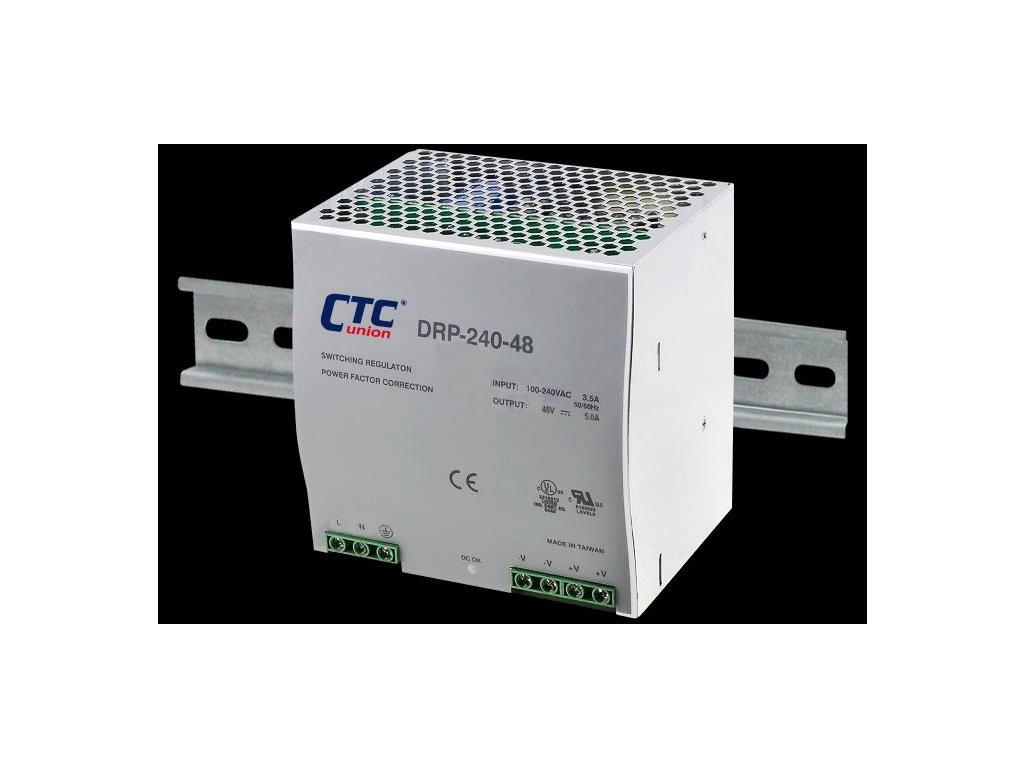 Zdroj Mean Well DRP-240-48 průmyslový napájecí zdroj 48V 5A na DIN lištu