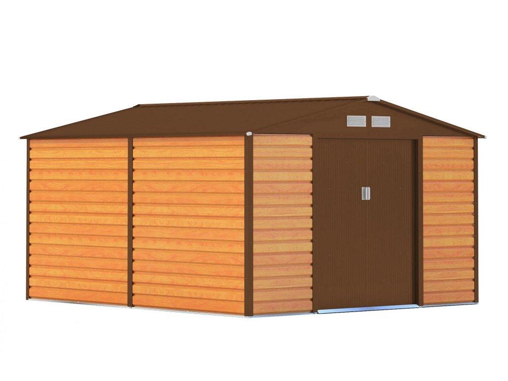 Záhradný domček G21 GAH 884 - 277 x 319 cm, hnědý