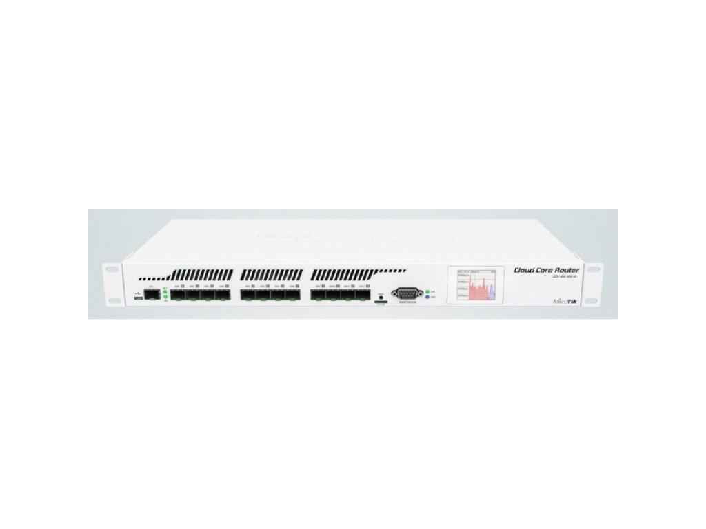 Router Mikrotik Cloud Core CCR1016-12S-1S+, 12x SFP, 1x SFP+, 2GB RAM, Level6, RM1U, LCD, Dual PSU