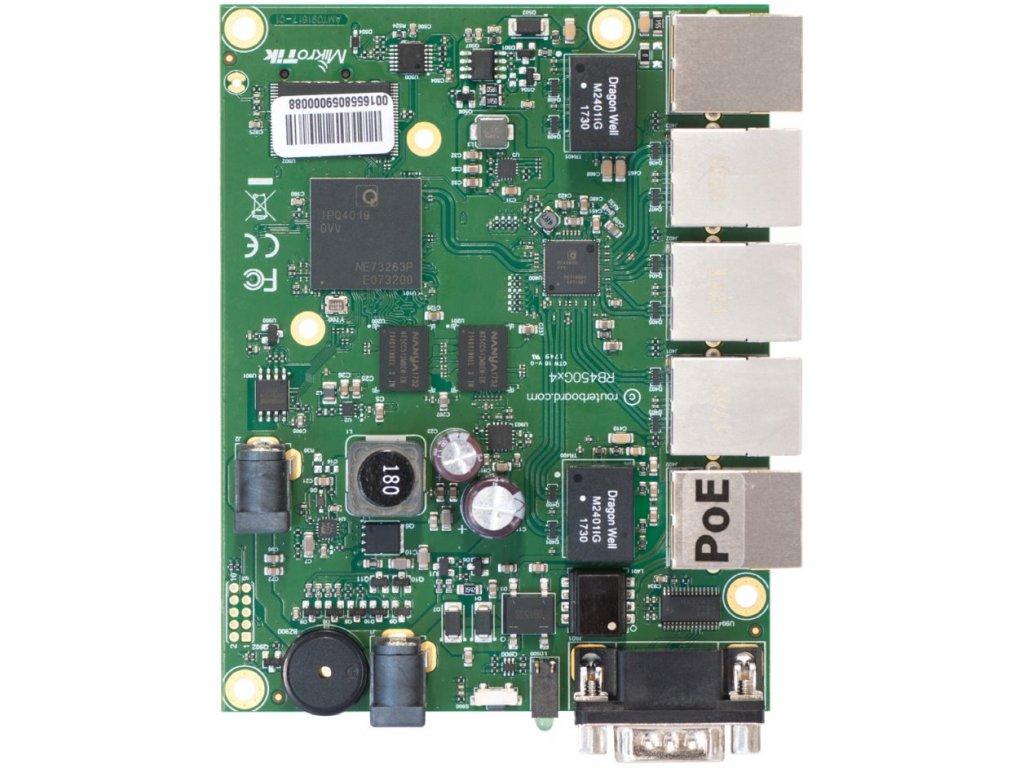 RouterBoard Mikrotik RB450Gx4 ROS L5, 4x GLAN
