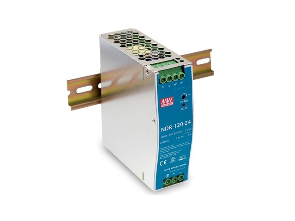 Zdroj Mean Well NDR-120-12 priemyselný napájací zdroj 12V 10A na DIN lištu