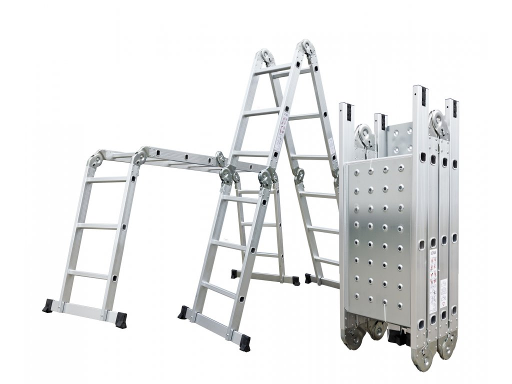 Hliníkové štafle G21 GA-SZ-4x3-3,7M multifunkčné + podlážka