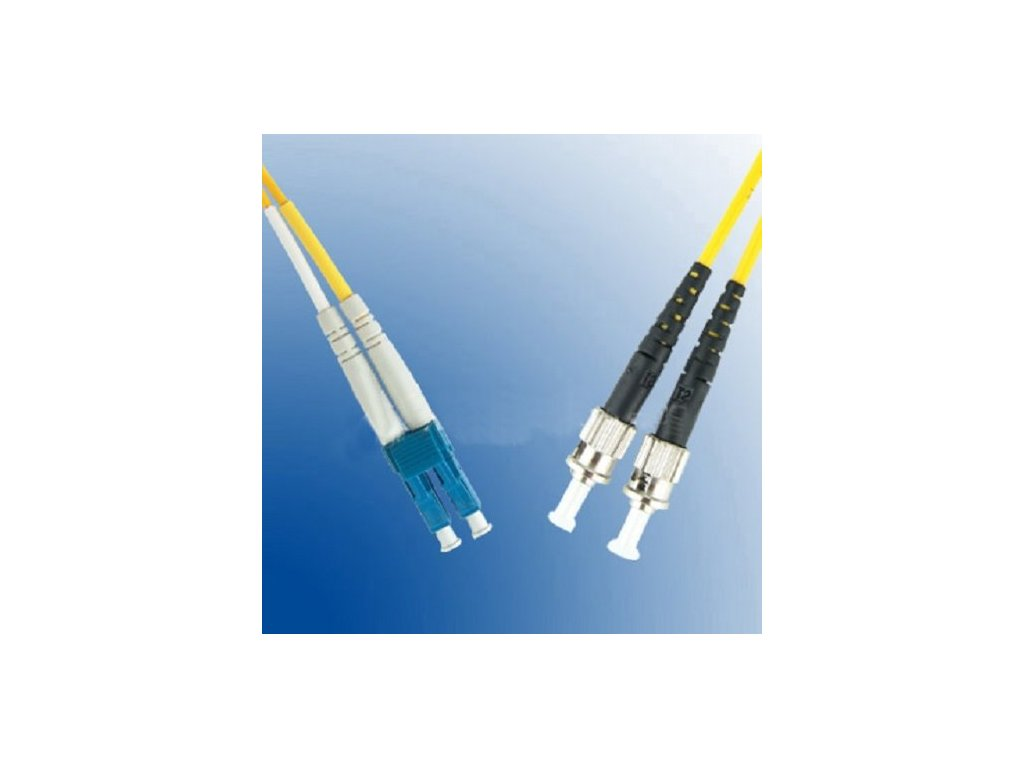 Patch kábel optický duplex LC-ST 09/125 5m SM