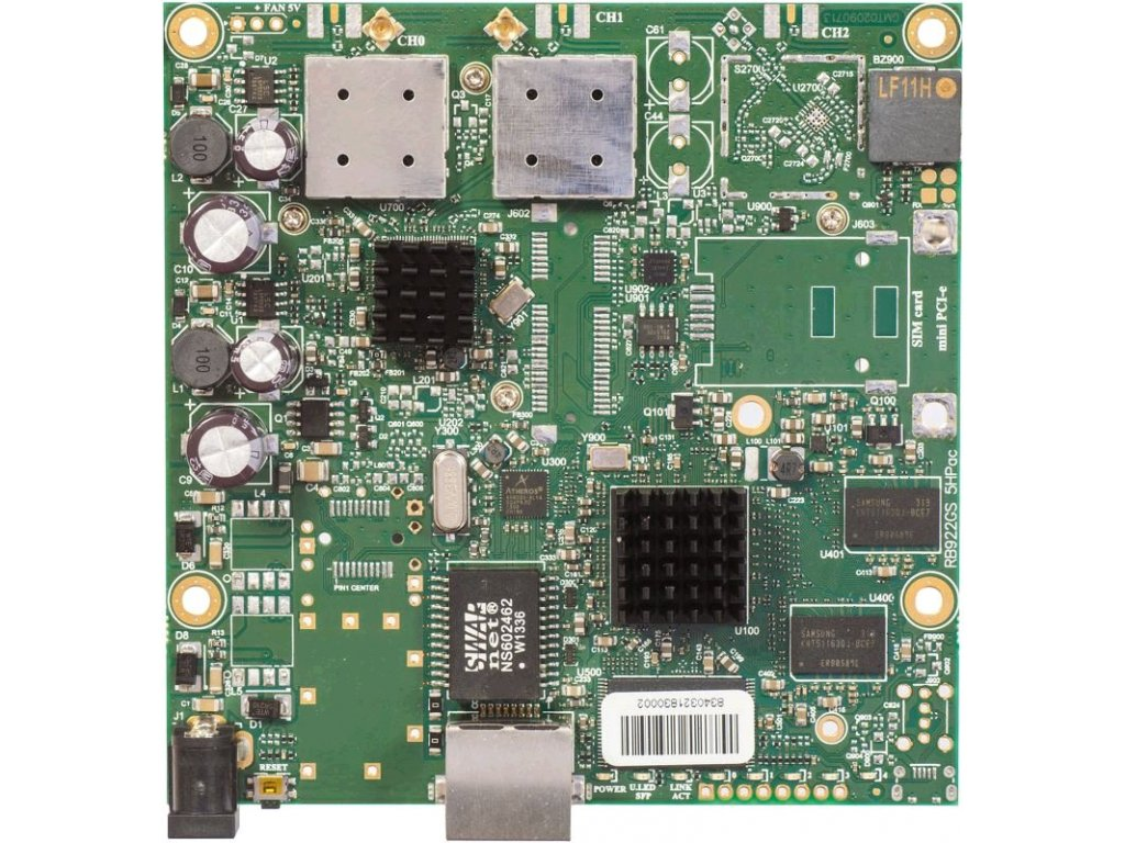 RouterBoard Mikrotik RB911G-5HPacD 802.11ac 2x2 two chain, RouterOS L3, 1xGLAN, 2xMMCX