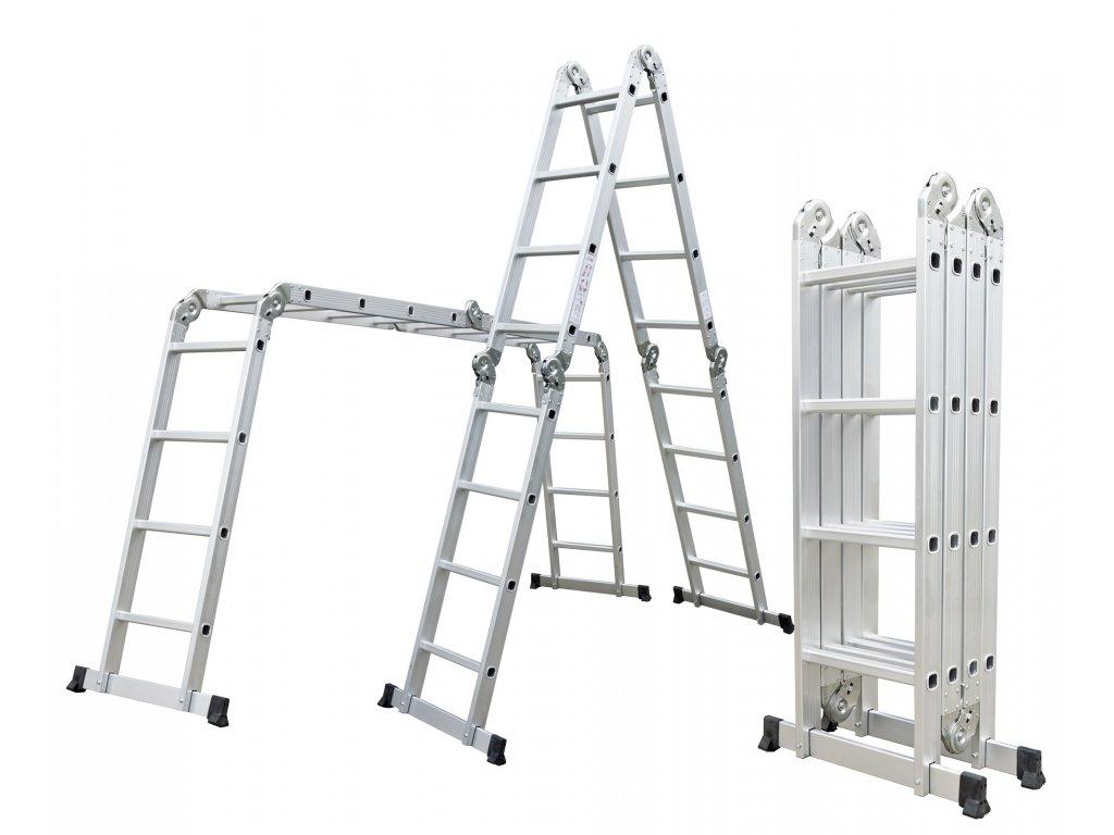 Hliníkové štafle G21 GA-SZ-4x4-4,6M multifunkčné
