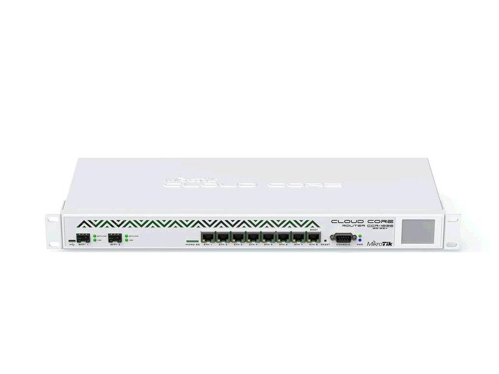 Router Mikrotik Cloud Core CCR1036-8G-2S+EM 8x GB LAN,16GB RAM, 2xSFP+ cage, Level6, RM 1U, PSU, LCD