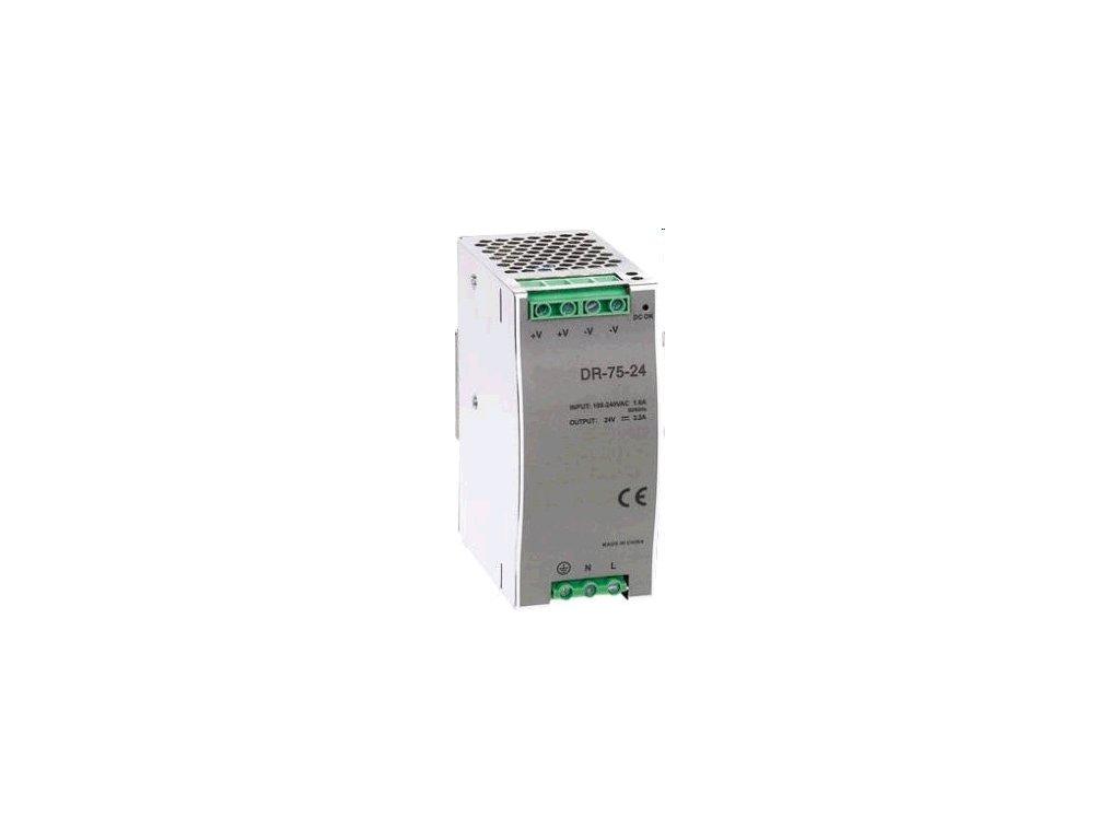 Zdroj Carspa DR-75-24 průmyslový na DIN lištu 75W, 24V