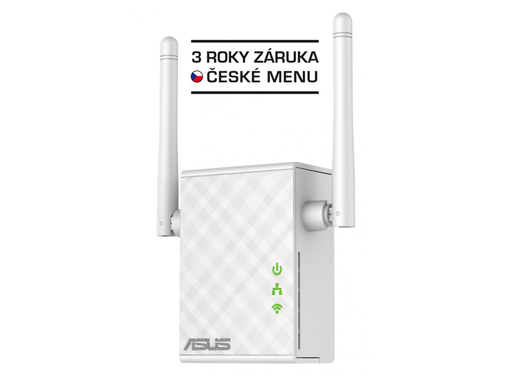 WiFi router Asus RP-N12 AP/repeater, 300Mbps 2,4 GHz
