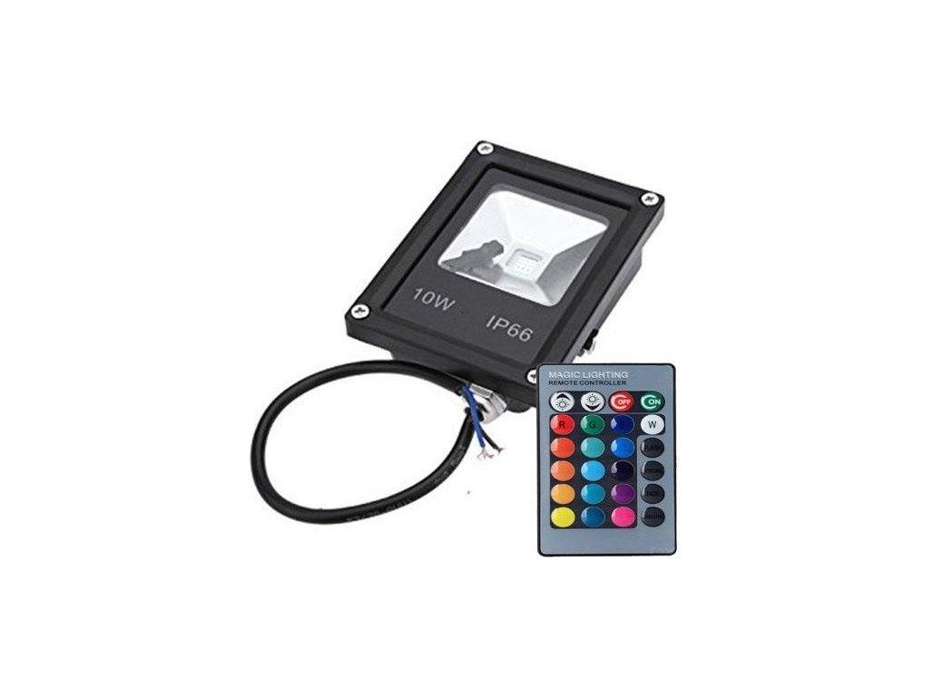 RGB LED Reflektor 10W + diaľkové