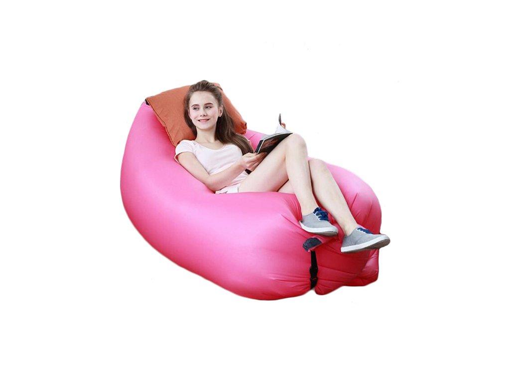 Vzdušný sedací vak Atomia - ružový