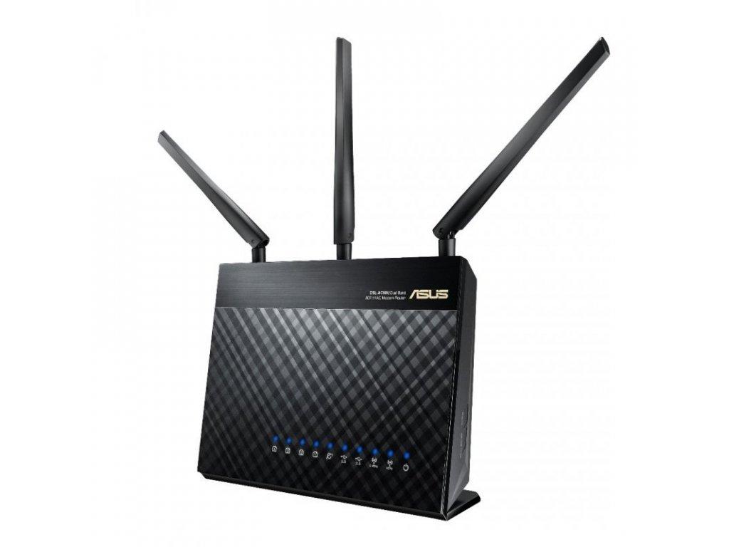 ADSL router Asus DSL-AC68U VDSL2/ADSL AC1900, 4x GLAN, USB