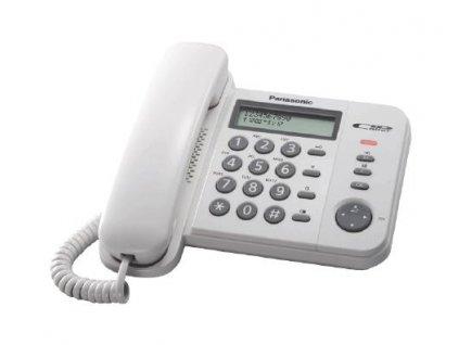 Telefón Panasonic KX-TS560FXW - jednolinkový, displej, Data port, CLIP, farba biela