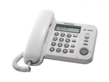 Telefón Panasonic KX-TS580FXW - jednolinkový , displej, hlasný tel., CLIP, farba biela