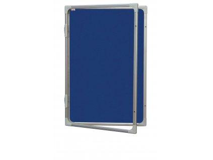 Vertikálne vitrína 60 x 90 cm - výplň sivý filc