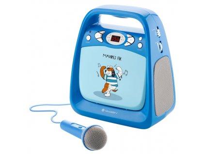 Prehrávač GoGEN CD Maxi Karaoke, Maxipes Fík modrý