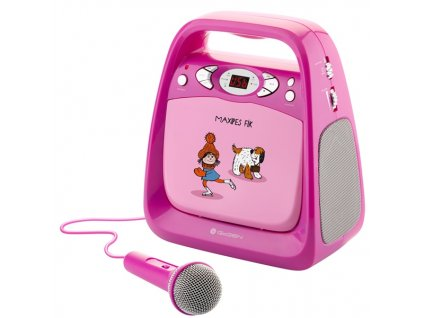 Prehrávač GoGEN CD Maxi Karaoke, Maxipes Fík ružový