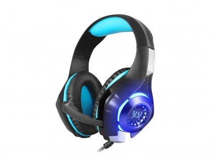 Slúchadlá Sandberg herné Headset Twister s mikrofónom, černá