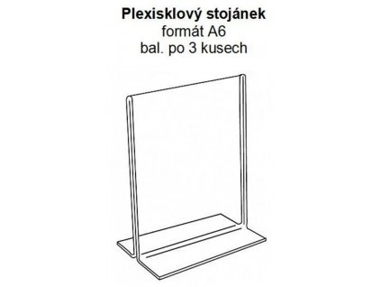 Stolný rámik PLEXI A6, na tlačené dokumenty, transparent, 3 ks