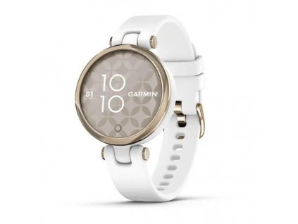Hodinky Garmin Lily Sport Cream Gold/White Silicone Band