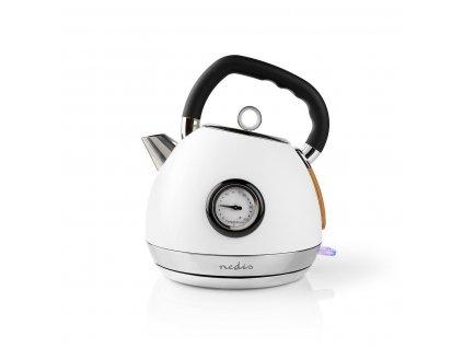 Rýchlovarná kanvica Nedis KAWK530EWT Soft-Touch, biela