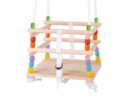 Hojdačka Bigjigs Toys drevená korálková