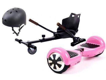 """Aboard hoverboard 6,5"""" Pink Bluetooth s hoverkartom (Prilba čierna prilba)"""