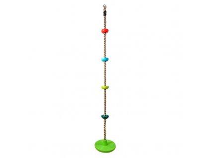 Hračka Dvěděti detské šplhacie lano s diskami farebné