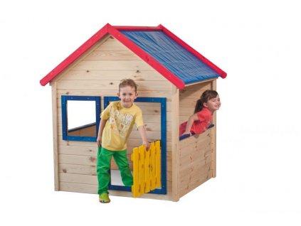 Záhradný domček Woody s farebným lemovaním