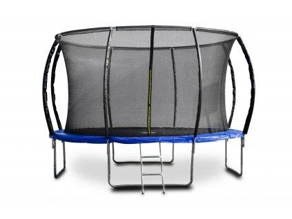 Trampolína G21 SpaceJump, 366 cm, modrá, s ochrannou sieťou + schodíky zadarmo