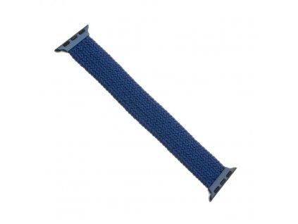 Remienok FIXED Nylon Strap elastický nylonový pre Apple Watch 42/44mm, veľkosť S, modrý
